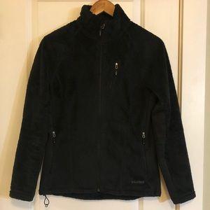 5/$25 SALE MARMOT Fuzzy Full Zip Up Black Jacket